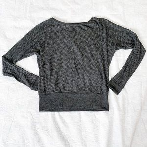 Velvet by Graham and Spencer Metallic Knit Sweater